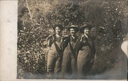 Three Women in Overalls With Shotguns Postcard