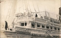 S.S. Northwestern Covered with Snow Postcard