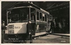 """The Cable Car"" A Distinctive Feature of San Francisco Postcard"