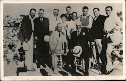 Jack Dempsey and other Men, Boxers Postcard