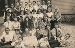 School Group Photo - Lafayette Banner - 1925 Postcard