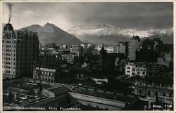 Chile - Santiago, Vista Panoramics Postcard