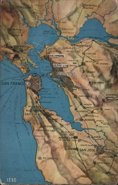 Map of San Francisco Bay Area California