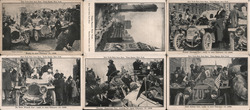 Set of 6: New York-Paris Auto Race 1908 Trade Card