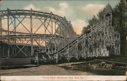 Figure Eight, Waldameer Park Postcard