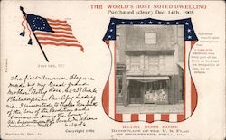 Betsy Ross Home the world's most noted dwelling Postcard