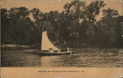 Boating on Feather River Postcard