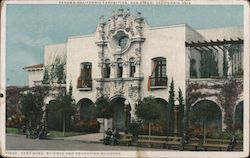 East Wing, Science and Education Building - Panama-California Exposition Postcard