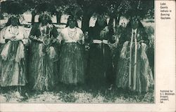 Lake County Indians in Dancing Costume Postcard