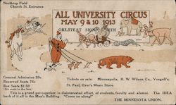 All University Circus May 9 & 10 1913 Postcard