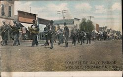 Fourth of July Parade 1907 Postcard