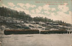 Wreck of the Pennsylvania Flyer Above Johnstown, PA Feb 26, 1907 Postcard