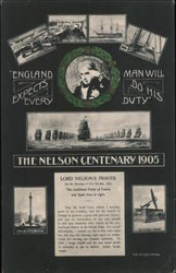 The Nelson Centenary 1905. Lord Nelson's Prayers. Postcard