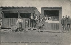 First stores on Main St. after the Johnstown Flood 1889 Postcard