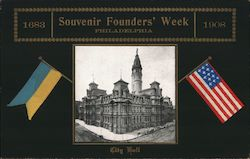 1683-1908 Souvenir Founders' Week City Hall Postcard