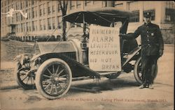 N.C.R. Auto spreading good news during flood excitement March 1913 Postcard