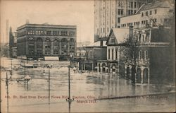 4th St. East from Dayton News Bldg during greatest flood in worlds history March 1913 Postcard