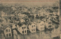 Section of Flooded District Many Miles During the Great Flood, March 1913 Postcard