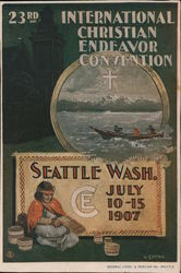 23rd International Christian Endeavor Convention July 10-15 1907 Postcard