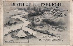 Birth of Pittsburgh Postcard