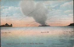 Islands of volcanic eruption, Bering Sea Postcard