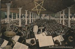 Sousa Band at Willow Grove Park Music Pavilion Postcard