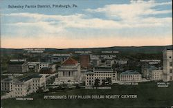 Schenley Farms District, Pittsburgh, Pa Postcard