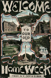 Welcome to our old Home Week Sep 6-9 1908 Postcard