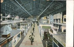 Interior of Pittsburg Exposition Postcard