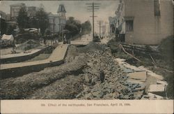 Effect of the Earthquake, April 18, 1906 Postcard