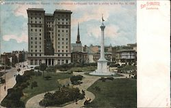 Hotel St. Francis and Union Square Postcard