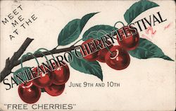 Meet Me At The San Leandro Cherry Festival Postcard