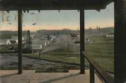 View of Cal. Oil Fields, From the Bungalow Postcard