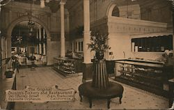 The Original Swain's Bakery and Restaurant 140 O'Farrell Street Opposite Orpheum Postcard