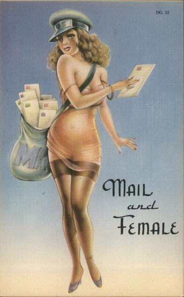 Mail and Female carrier scantily clad Swimsuits & Pinup
