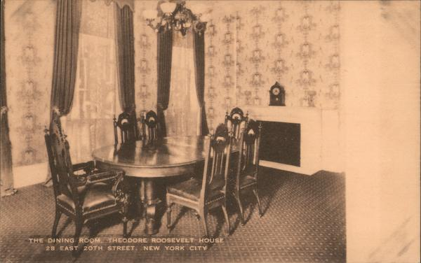 Dining room at Theodore Roosevelt House New York City