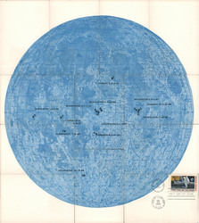 Set of 12: Complex Apollo 11 Moon Map Installment Set Postcard