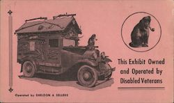Car with smoking monkey - sale of card helps disabled veteran Other Ephemera