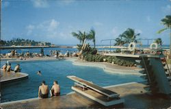 Beautiful Pool in One of the Most Modern Hotels in Puerto Rico Postcard