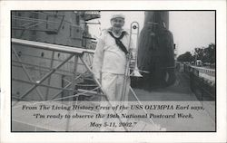 Rev. Earl C. Carver From the Living History Crew of the USS Olympia, 19th National Postcard Week. Postcard