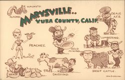 Marysville, Yuba County, Calif. Signed Stan Q. Gelling Postcard