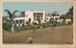 The Florida Tropical Home, Arts and Crafts Division, World's Fair 1934 Postcard