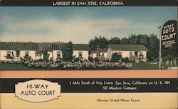 Hi-Way Auto Court Postcard