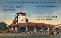 Rio Rancho Motel The Home of Commercial Men U.Sl99-E Postcard