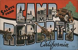 A Salute from Camp Roberts California Postcard