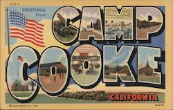 Greetings from Camp Cooke California Postcard