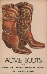 Acme Boots by World's Largest Manufacturers of Cowboy Boots Postcard