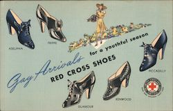 Red Cross Shoes - Gay Arrivals for a Youthful Season Postcard