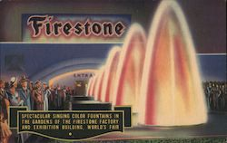 Firestone Singing Color Fountains Postcard