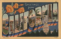 Greetings from California Postcard